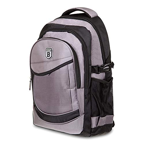 Elitar Rucksack Damen Kinder Herren Ergonomisch Backpack 25 Liter groß Organizer Handgepäck Daypack Grau