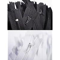 50 Fermetures éclair, 25 cm longue, 24 mm large, spirale, Couleur: noir
