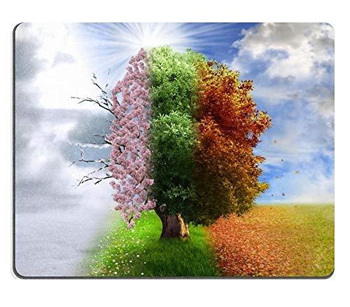 Naturkautschuk-Mausunterlage Vierjahreszeitbaum-Fotomanipulations magisches nature3
