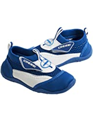 Cressi Coral Junior Aqua Shoes, Zapatillas Chanclas, Niños, Azul (Blau/Weiss), 35 EU