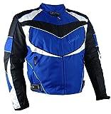 1539 Bangla Sportliche Kurze Motorradjacke Jacke Cordura Blau 3XL