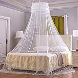 Funmo - Moskitonetz,Keine Hautreizung, Insektensicher, Geeignet für Baby Spitze Dome Bett, Indoor Outdoor Reise travel (Weiß)