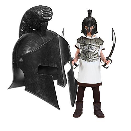 Kinder Gladiator Römischer Kostüm - Gladiator Helm Kinder Römerhelm Römer Kinderhelm Sparta 300 Gladiatorenhelm Antike Gladiatorhelm Gladiatoren Kopfbedeckung Karnevalskostüme Accessoires