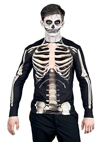 Skelett Brustkorb Kostüm - Boland 84301 - Fotorealistisches Shirt Skeleton, Kostüme für Erwachsene