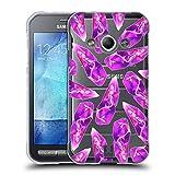 Head Case Designs Meerjungfrau Schädel Und Kristalle Soft Gel Hülle für Samsung Galaxy Xcover 3