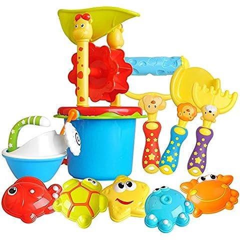 Creation® 11 in 1 Kids Fun sabbia spiaggia giocattolo animali giocattolo dell'acqua del gioco di dragaggio giochi all'aperto Giocattoli