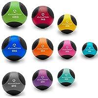 Balón medicinal »Medicus« / 1 - 10 kg / Balón de entrenamiento / Balón de peso / Balones de gimnasia de ligeros a pesados con calidad de gimnasio profesional 2 kg / verde claro