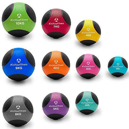 Medizinball »Medicus« / 1-10kg / Fitnessball/Gewichtsball/leichte bis sehr schwere Gymnastikbälle in Studio-Qualität 3kg / Magenta