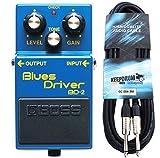 BOSS BD-R 2Appareil Blues Driver Effet pour guitare keepdrum Câble de guitare 3m