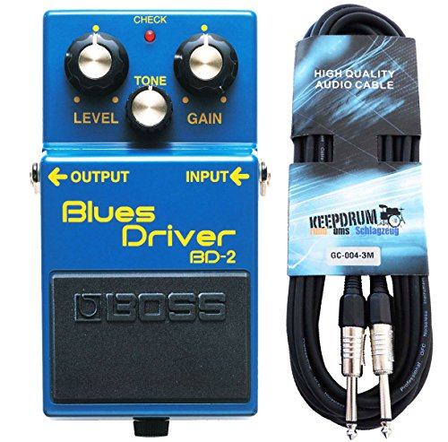 Boss BD de 2 Blues Driver Efecto dispositivo para guitarra Keepdrum de guitarra cable 3 m