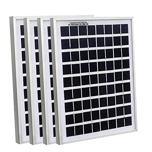ECOWORTHY 20Watt 4pcs 5W Watt Solar Panel Ploy Solar Module 12V Battery Charger for Caravan Boat Power - Linear Battery Charger Controller
