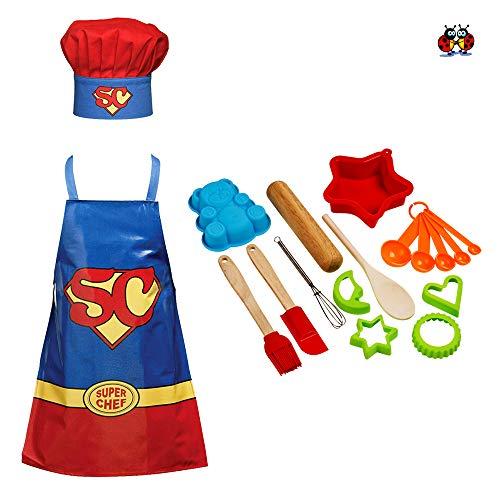 Le coccinelle Company Great British Bake set per bambine, 18pezzi kit di cottura Kids Cooking set con super chef grembiule e cappello da chef outfit