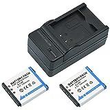 Mondpalast @ NP-50 / NP50 / NP-50A / NP50A FNP-50 1300mah Batteries Batterie X2 + Chargeur pour Fuji / Fujifilm Finepix F50fd, F60fd, F100fd, F70EXR, F72EXR, F75EXR, F80EXR, F85EXR, F200EXR, F300EXR, F305EXR, F500EXR, F505EXR, F550EXR, F600EXR, F605EXR, F660EXR, F665EXR, F750EXR, F770EXR, F775EXR, F800EXR, F900EXR, Real 3D W3, X10, X20, XF1, XP100, XP110, XP150, XP160, XP170, XP200