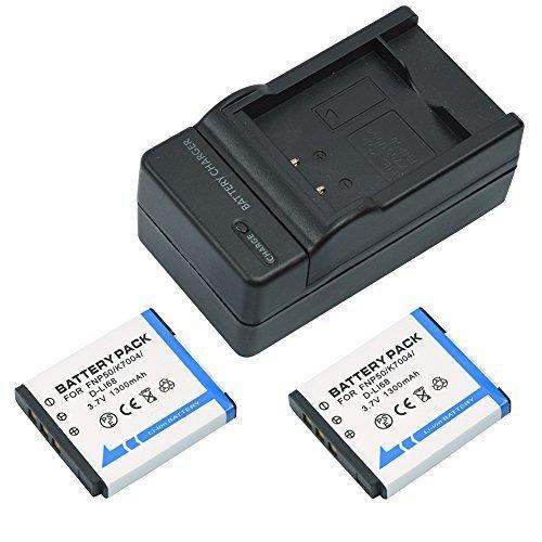 mondpalast-np-50-kodak-klic-7004-pentax-d-li68-d-li122-1300-mah-batteria-x2-caricabatteria-per-ujifi