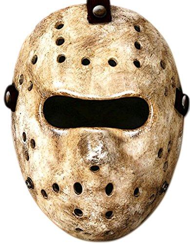 Halloweenia - Hockey Maske, Beige (Machen Pferd Die Ohren Kostüm)