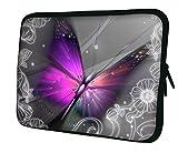 Ektor Hülle/Sleeve/Tasche für 25,4-44,7 cm (10-17,6 Zoll) Laptops/Notebooks, in unterschiedlichen Mustern und Größen erhältlich (Teil 2 von 3) Auffälliger Schmetterling 12