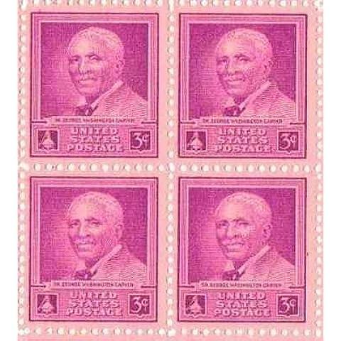 George Washington Carver Set of 4 x 3 Cent US Postage Stamps NEW Scot 953 (Francobolli Washington)