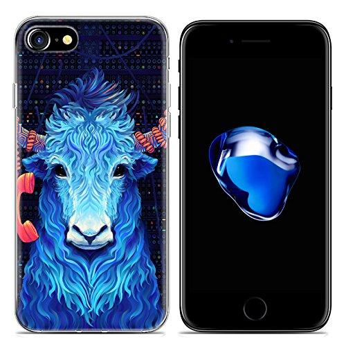 Easbuy Cartoon Tier Handy Hülle Soft Silikon Case Etui Tasche für iPhone 7 Smartphone Cover Handytasche Handyhülle Schutzhülle Mode 19