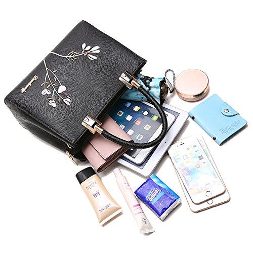 f0d9f1712fdbc ... Yoome Stickerei Handtaschen Top Handle Tote Elegant Taschen Für Frauen  Casual New Chic Taschen Crossbody ...