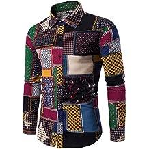 TEBAISE Herbst Mode Herren Freizeit Ausflug Dating Charming Coole Casual  Langarmhemd Business Slim Fit Shirt Druck 78f63b5e19