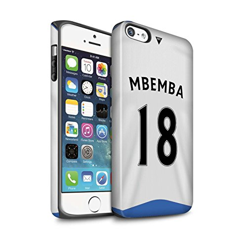 Offiziell Newcastle United FC Hülle / Matte Harten Stoßfest Case für Apple iPhone 5/5S / Pack 29pcs Muster / NUFC Trikot Home 15/16 Kollektion Mbemba