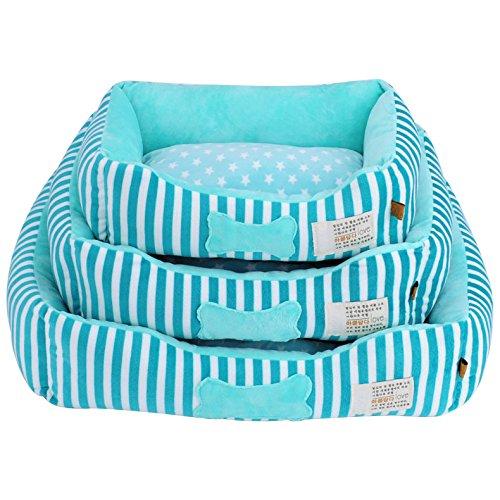 Coperchio removibile lavabile dell'animale domestico Set 3 pezzi gatto del cane del coniglio Inizio morbido Mat Set Kennel caldo cuscino , green , sets