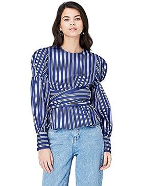FIND Camisa con Cuerpo Cruzado para Mujer