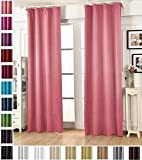 WOLTU VH5868rs, Vorhang Gardinen Blickdicht mit kräuselband für schiene, Leichter & weicher Verdunklungsvorhang für Wohnzimmer Kinderzimmer Schlafzimmer 135x245 cm Rosa, (1 Stück)