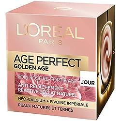 L'Oréal Paris - Age Perfect - Golden Age - Soin Jour Rose Re-Fortifiant - Anti-Relâchement & Eclat - Peaux Matures et Ternes - 50 mL