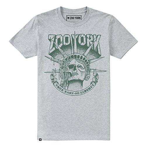 Zoo York Herren T-Shirt Death of Liberty Grey (Grey Heather)