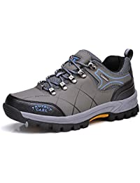 KANGLE Outdoor scarpe da trekking da uomo impermeabili camouflage grande taglia scarpe,45