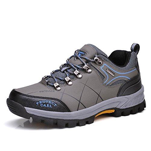 WANPUL Trekking Schuhe Herren Wanderschuhe Atmungsaktiv Low-Top Wanderhalbschuhe Wasserdicht Camping...