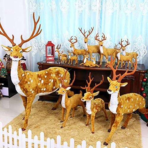Kinder Kostüm Plum - haolinhua Neue Weihnachten Elch Fluff Real Life Deer Plum Deer Christbaumschmuck Fenster Szene Layout Requisiten Frohe Weihnachten Kinder Spielzeug