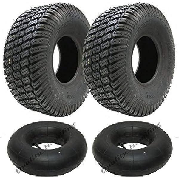 Zwei 15x6 00 6 4 Lagen Multi Rasengras Rasenmäher Reifen Mit Schläuchen 15 6 6 Reifen Rasenmäher Auto