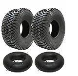 Ensemble de deux pneus 15x6.00-6 et tubes...