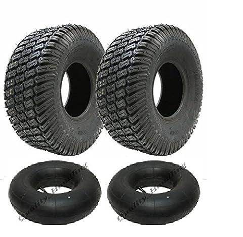 Deux - 13x5.00-6 4 pneus et tubes à gazon à