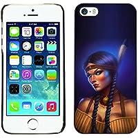 Qstar Art & Design plastica dura Guscio Protettivo Cassa Cover Per Apple iPhone 5 / (Shock Braid)