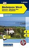 Deutschland Outdoorkarte 43 Bodensee West 1 : 35.000: Untersee, Überlinger See, Konstanz, Radolfzell. Wanderwege, Radwanderwege, Nordic Walking (Kümmerly+Frey Outdoorkarten Deutschland, Band 998)