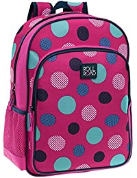 Roll Road 46523A1 Dots Mochila Escolar, 15.6 Litros, Color Rosa