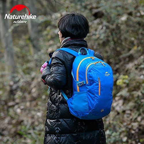 Naturehike Breathable Sportrucksack Camping Tasche Wanderrucksack Rucksack fur die Reise 30L Dark Blue
