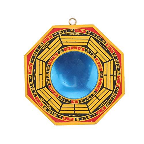 Yinew Bagua Spiegel Feng Shui konvexer Spiegel zum Schutz gegen aktive schädliche Energie bringen viel Glück kreatives Geschenk für Ihren Freund