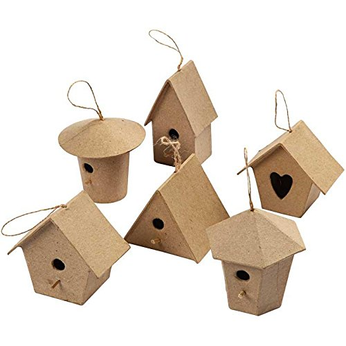 papier-mache-mini-craft-bird-houses-for-kids-and-adult-crafts-to-decorate-and-embellish-pack-of-6