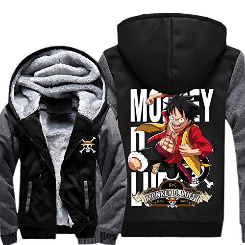 Anime Kapuzen Pullover Hoodie Cosplay Kostüm Plus dicke Jacke Sweatshirt Herren Top Mantel Warm halten ()
