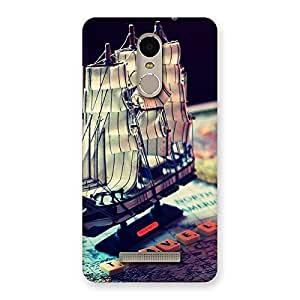 Impressive Travel Ship Map Multicolor Back Case Cover for Xiaomi Redmi Note 3