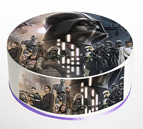 Star Wars 75 Inch Round Edible Cake Topper Decoration Printed On