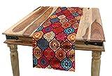 ABAKUHAUS Marocain Chemin de Table, Oriental Naturel Ondulé, Décoratif Lavable en Machine et Facile à Nettoyer, 40 x 225 cm, Multicolore