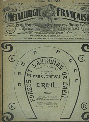 la-metallurgie-francaise-journal-mensuel-des-quincailiers-et-marchands-de-fers-de-france-n-50-15-fevrier-1920-impots-celudaires-sur-le-revenu-pour-le-transports-des-meules-le-danger-des-cooperatives