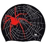 Turbo Gorro de silicona SPIDER Negro Rojo Silicone Cap