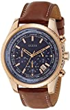 Guess W0500G1 - Reloj con correa de piel, para hombre, color azul / marrón