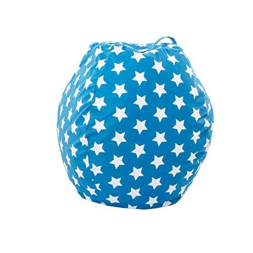Loft Sitzsack mit Tragegriff, groß, Bedruckt, Blau mit Sternen Bewahren Sie Ihre Stofftiere...